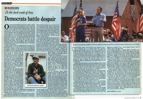 Article Preview: Democrats battle despair, September 1991 | Maclean's