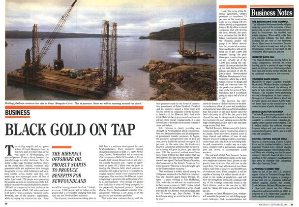 Article Preview: BLACK GOLD ON TAP, September 1991 | Maclean's