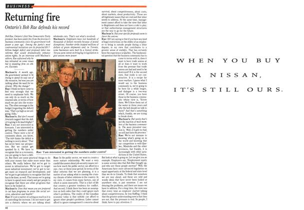 Article Preview: Returning fire, September 1991 | Maclean's