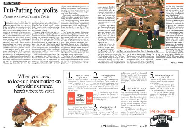 Article Preview: Putt-Putting for profits, September 1991 | Maclean's