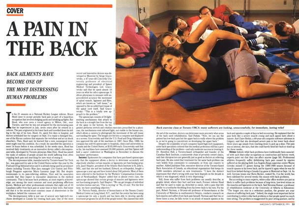 Article Preview: A PAIN IN THE BACK, September 1991 | Maclean's