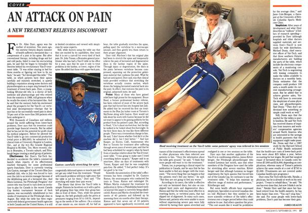 Article Preview: AN ATTACK ON PAIN, September 1991 | Maclean's