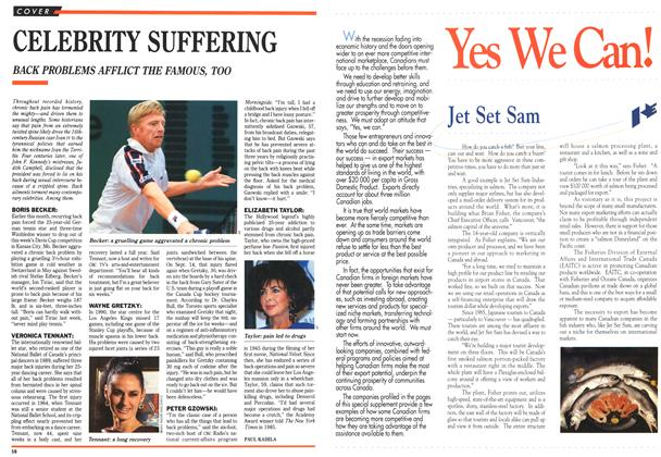 Article Preview: CELEBRITY SUFFERING, September 1991 | Maclean's