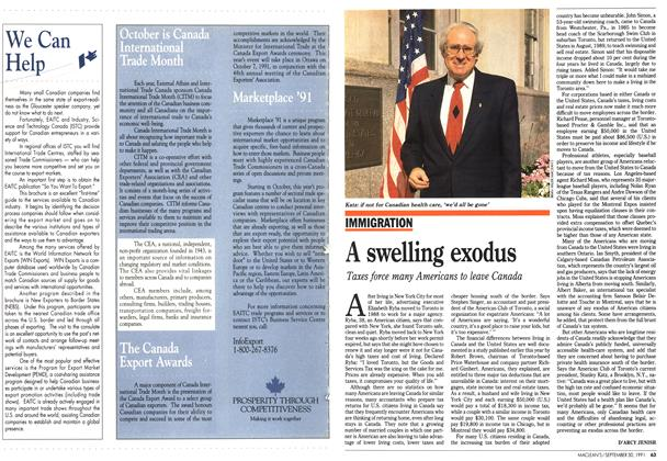 Article Preview: A swelling exodus, September 1991 | Maclean's