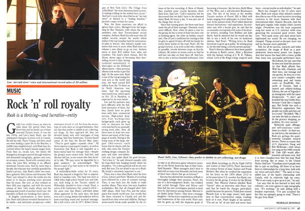 Article Preview: Rock 'n' roll royalty, September 1991 | Maclean's
