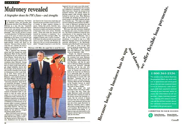 Article Preview: Mulroney revealed, October 1991 | Maclean's