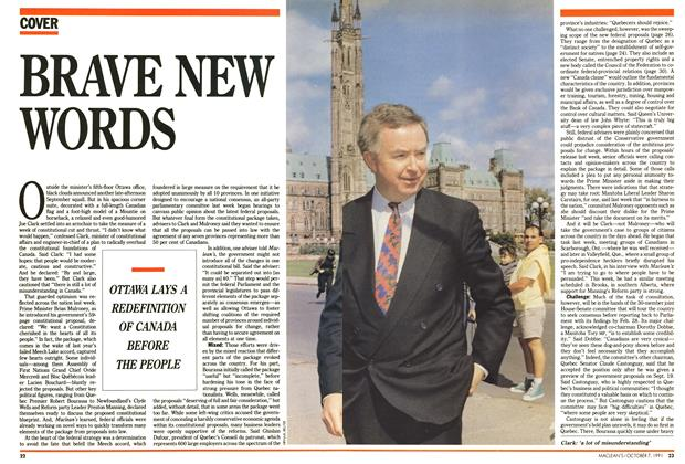 Article Preview: BRAVE NEW WORDS, October 1991   Maclean's