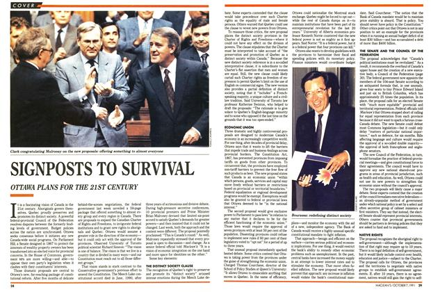 Article Preview: SIGNPOSTS TO SURVIVAL, October 1991 | Maclean's