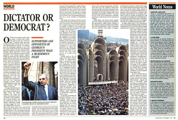Article Preview: DICTATOR OR DEMOCRAT?, October 1991 | Maclean's