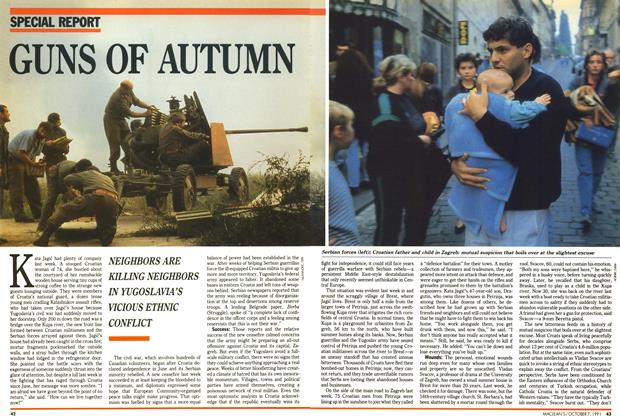 Article Preview: GUNS OF AUTUMN, October 1991 | Maclean's