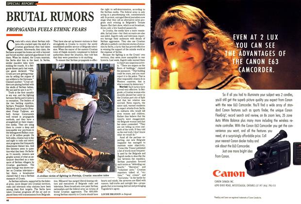 Article Preview: BRUTAL RUMORS, October 1991 | Maclean's