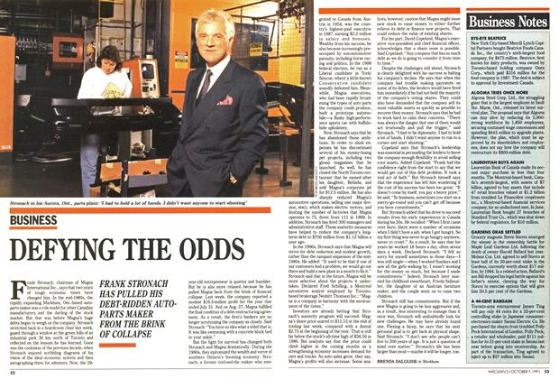 Article Preview: DEFYING THE ODDS, October 1991 | Maclean's
