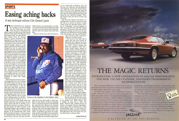 Article Preview: Easing aching backs, October 1991 | Maclean's