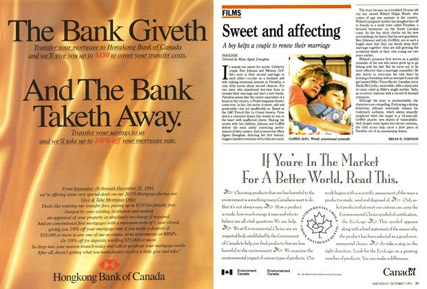 Article Preview: Sweet and affecting, October 1991 | Maclean's