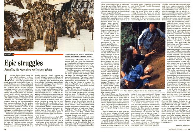 Article Preview: Epic struggles, October 1991 | Maclean's