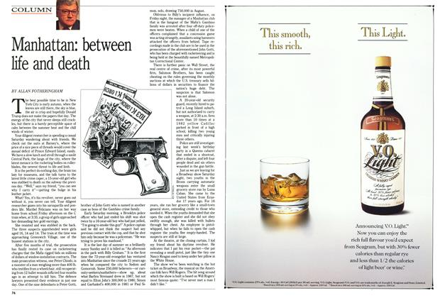 Article Preview: Manhattan: between life and death, October 1991 | Maclean's