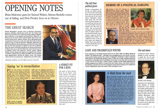 Article Preview: OPENING NOTES, October 1991 | Maclean's
