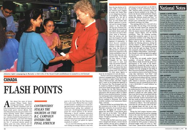 Article Preview: FLASH POINTS, October 1991 | Maclean's