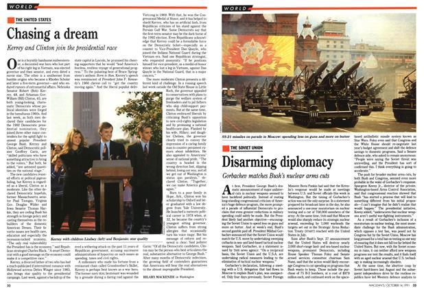 Article Preview: Disarming diplomacy, October 1991 | Maclean's