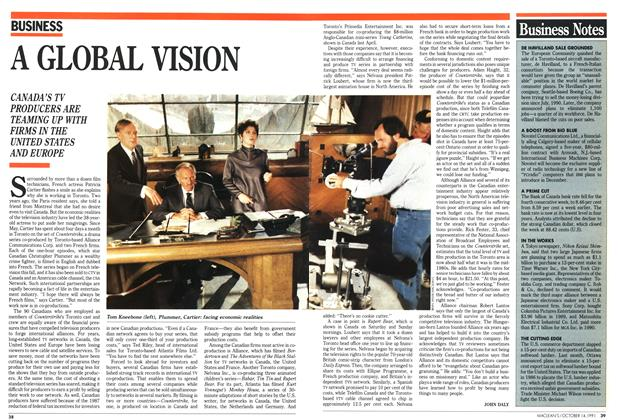 Article Preview: A GLOBAL VISION, October 1991 | Maclean's