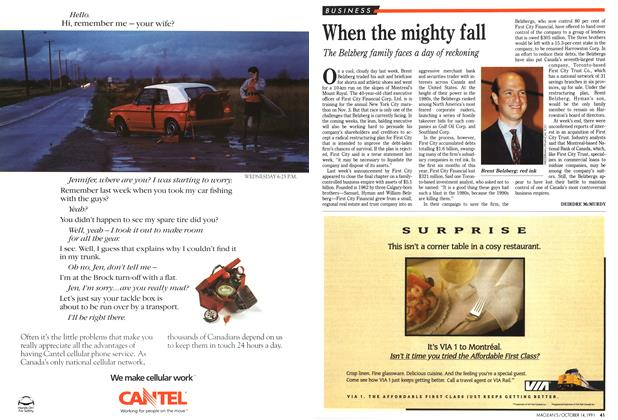 Article Preview: When the mighty fall, October 1991 | Maclean's