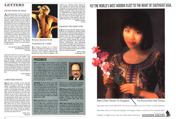 Article Preview: LETTERS, October 1991   Maclean's