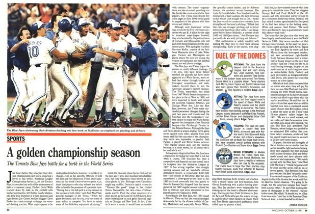 Article Preview: A golden championship season, October 1991 | Maclean's