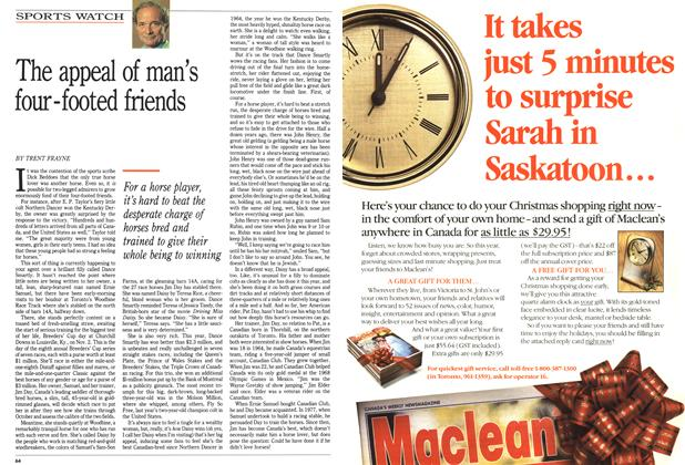Article Preview: The appeal of man's four-footed friends, October 1991 | Maclean's