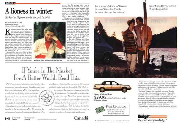 Article Preview: A lioness in winter, October 1991 | Maclean's