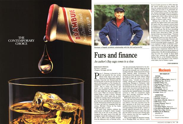 Article Preview: Furs and finance, October 1991 | Maclean's