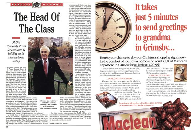 Article Preview: The Head Of The Class, October 1991 | Maclean's