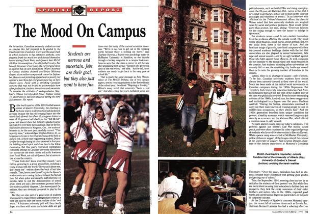 Article Preview: The Mood On Campus, October 1991 | Maclean's