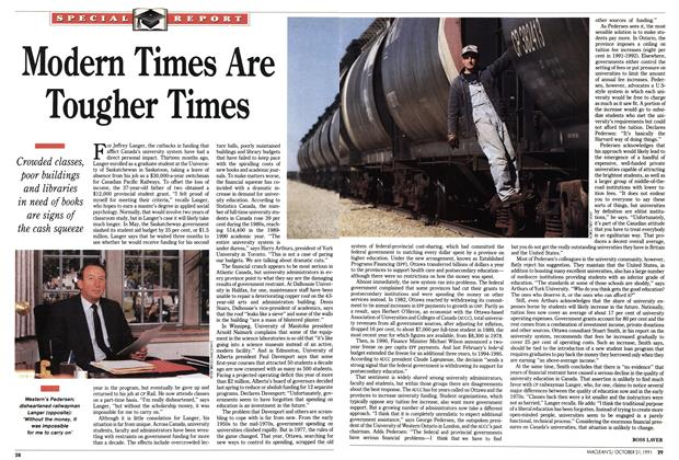 Article Preview: Modern Times Are Tougher Times, October 1991 | Maclean's