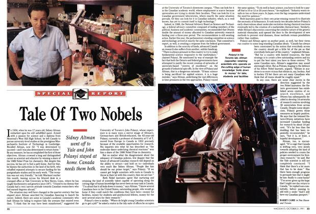 Article Preview: Tale Of Two Nobels, October 1991 | Maclean's