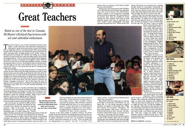 Article Preview: Great Teachers, October 1991 | Maclean's