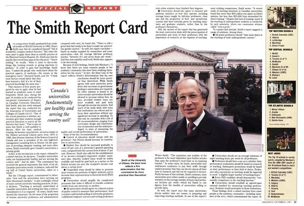 Article Preview: The Smith Report Card, October 1991 | Maclean's