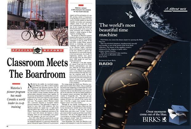 Article Preview: Classroom Meets The Boardroom, October 1991 | Maclean's