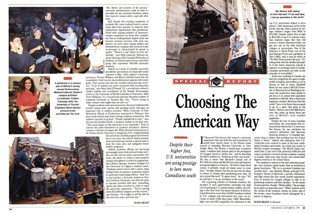Article Preview: Choosing The American Way, October 1991 | Maclean's