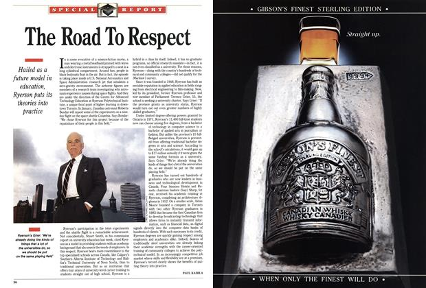 Article Preview: The Road To Respect, October 1991 | Maclean's