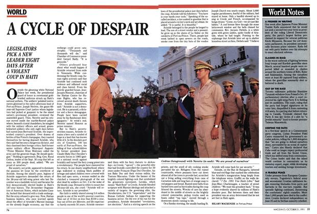 Article Preview: A CYCLE OF DESPAIR, October 1991 | Maclean's