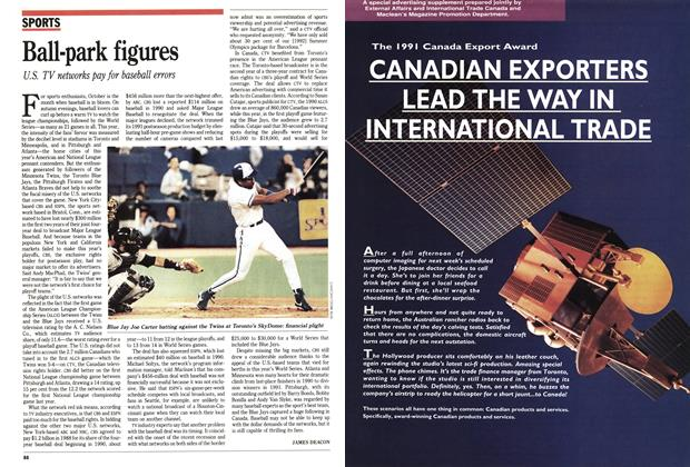 Article Preview: Ball-park figures, October 1991 | Maclean's