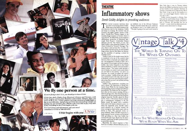 Article Preview: Inflammatory shows, October 1991 | Maclean's