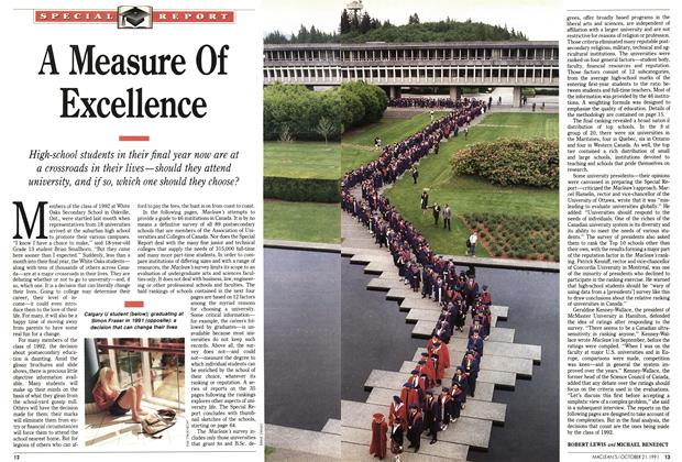 Article Preview: A Measure Of Excellence, October 1991 | Maclean's