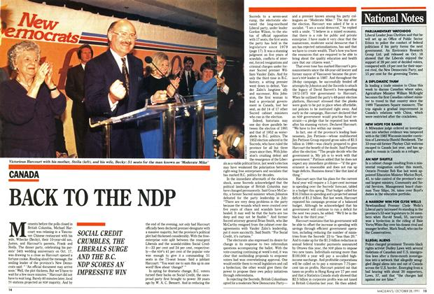Article Preview: BACK TO THE NDP, October 1991 | Maclean's