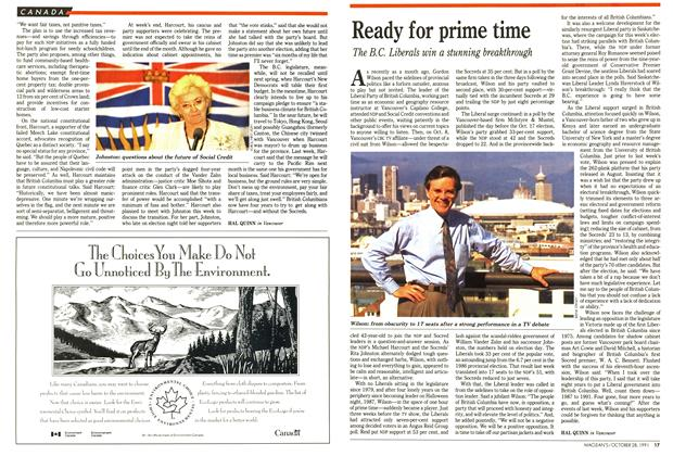 Article Preview: Ready for prime time, October 1991 | Maclean's