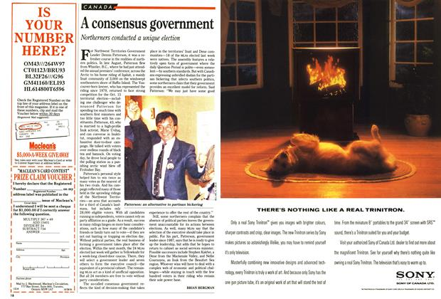 Article Preview: A consensus government, October 1991 | Maclean's