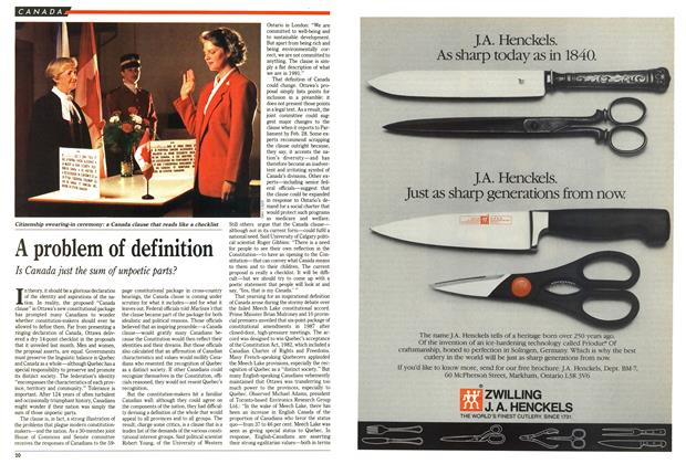Article Preview: A problem of definition, October 1991 | Maclean's
