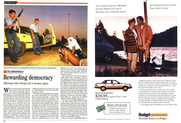 Article Preview: Rewarding democracy, October 1991 | Maclean's