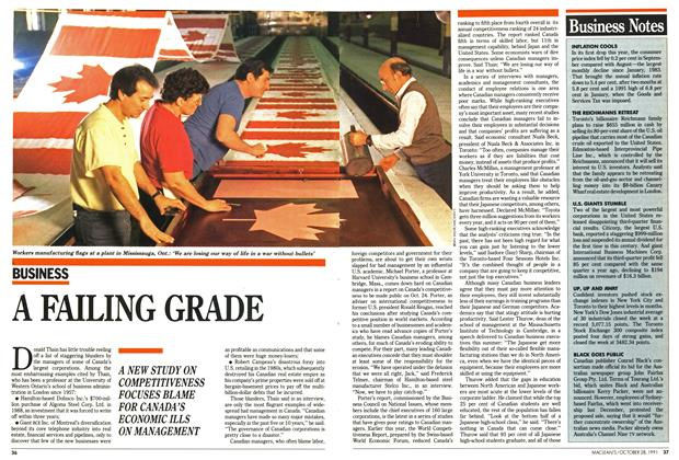 Article Preview: A FAILING GRADE, October 1991 | Maclean's