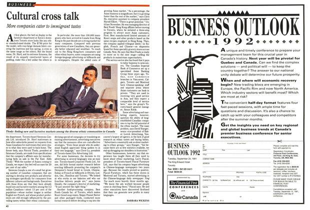 Article Preview: Cultural cross talk, October 1991   Maclean's